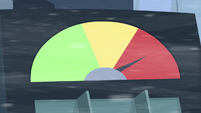 Meter points to red S5E5