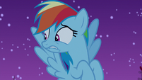 Rainbow Dash hears the zombies approaching S6E15