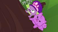 Spike and Thunder Guts growl at squirrel CYOE14b