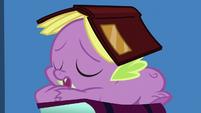 Spike sleeping with a book on his head S5E12
