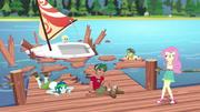 The campers' dock is destroyed EG4.png