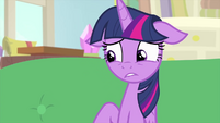 Twilight Sparkle starting to look afraid MLPS4