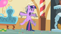 Twilight after being knocked into the wall by Pinkie Pie S1E25