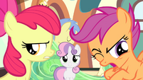 Apple Bloom disappointed and Scootaloo revolted S4E19