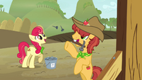 Apple Bumpkin tossing nails to Half Baked Apple S3E8