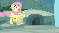 Fluttershy feels something pull on her tail S9E18