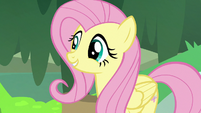 Fluttershy with an adorable smile S7E20
