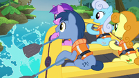 Ponies paddling the boat S6E4