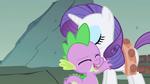 Spike hugging Rarity S1E19