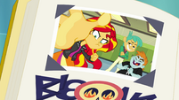 "Sunset Shimmer's ""Best Meanie"" yearbook photo EGFF"