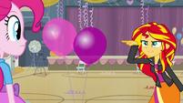 Sunset Shimmer wants fewer balloons EG