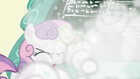 Sweetie Belle coughing on chalk dust S8E12