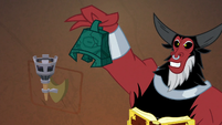 Tirek holding up the Bewitching Bell S9E24
