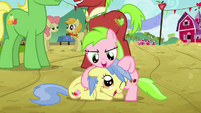Two fillies playing with each other S3E08