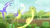 Celestia and Luna teleport Mr. Tortoise-Snap S9E13