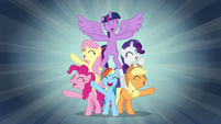 "Mane Six sing ""when we're with our team"" S7E2"