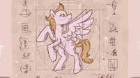 Pegasus diagram on Twilight Sparkle's scroll S6E24