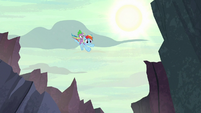 Rainbow Dash and Spike fly to the Dragon Lands S7E25
