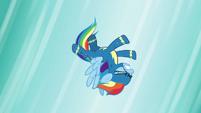 Rainbow Dash falling through the air S6E7