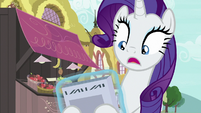 Rarity shocked by Vanity Mare's front cover S7E19