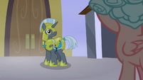 Royal guard looks back at Cozy Glow S9E17