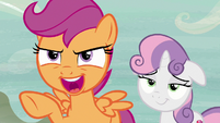 """Scootaloo """"let's see him compete with a song!"""" S7E8"""