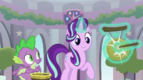 Starlight Glimmer hits the starting gong S8E15