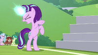 Starlight furiously charging her magic S8E15