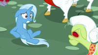 Trixie backing away from Granny Smith S7E2