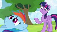 Twilight considering Rainbow's friends S4E10