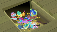 Young Six at bottom of the trapdoor S8E7