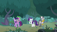 Zecora waving goodbye to her friends S8E11