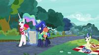 """Celestia """"we are regular, carefree ponies!"""" S9E13"""