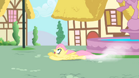 Fluttershy attempting to catch Philomena S1E22