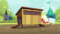 Orchard Blossom charging into chicken coop S5E17