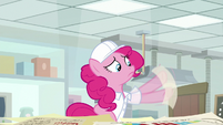 Pinkie stuck to physical humor sheet S9E14