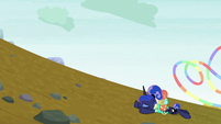 Princess Luna collapses on the ground S9E13