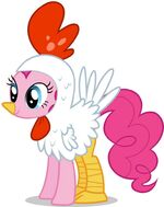 Promotional Facebook Halloween 2011 Pinkie Pie chicken