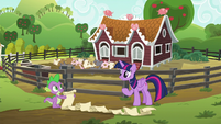 Twilight and Spike about to begin their task S6E10