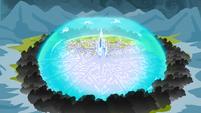 Crystal Empire protective barrier S3E2