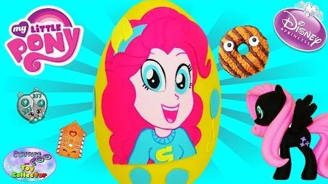 MY LITTLE PONY Giant Play Doh Surprise Egg Pinkie Pie Equestria Girls MLP Funko Shopkins MLP - SETC