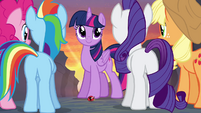 Main cast turned back into ponies S4E16