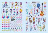 Rainbow Rocks Panorama Sticker Storybook sticker sheet
