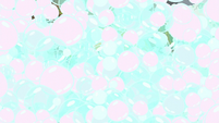 Screen floods with soap bubbles S6E1