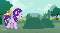 Starlight approaching a bush S6E6