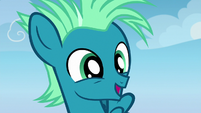 Young Sky Stinger looking happy S6E24
