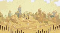 Desert village blanketed in sand S7E11