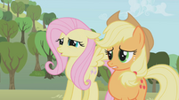 Fluttershy and Applejack from the bad cupcakes S1E4