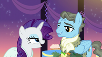 """Rarity """"A gentlepony with fabulous taste in colognes and scarves?"""" S5E15"""