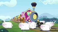 Sheep blocking the train tracks S9E26